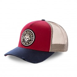 Casquette baseball filet Von Dutch Biker Rouge