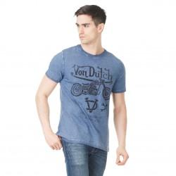 T-shirt Homme Von Dutch John Imprimé Bleu