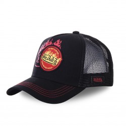 Casquette baseball Von Dutch Flamme noir