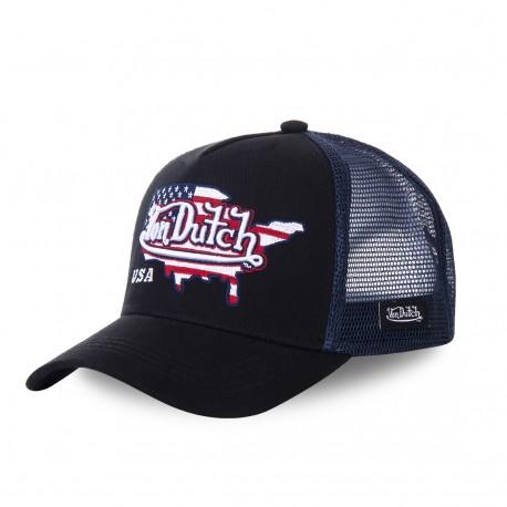 Casquette baseball Von Dutch USA noir