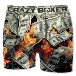 Boxer Homme Burning Dollars CRAZY BOXER