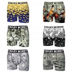 Lot de 6 boxers CRAZY BOXER