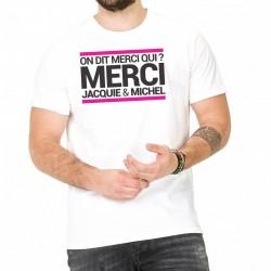 T-shirt Homme Jacquie et Michel Blanc