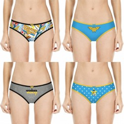 Lot de 4 Slips Fille Justice League