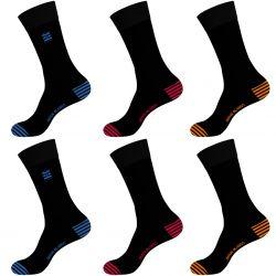 Lot de 6 chaussettes de ville homme en coton peigné doux