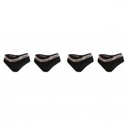 Lot de 4 slips coton femme Reebok 9310 Noir