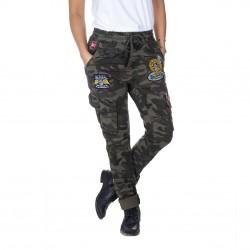 Pantalon Toile Femme VONDUTCH War Imprimé Camouflage