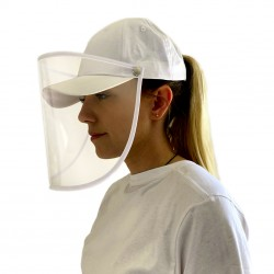 Casquette avec ecran de protection PVC