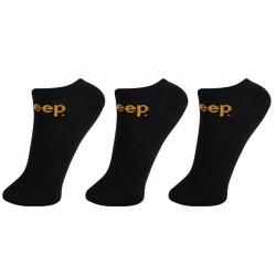Lot de 3 paires de chaussettes sneakers homme Jeep Noires