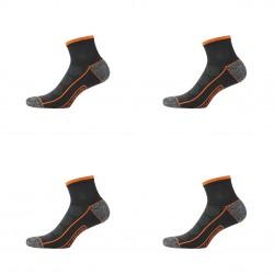 Lot de 4 Paires de Chaussettes Socquettes de travail Tool