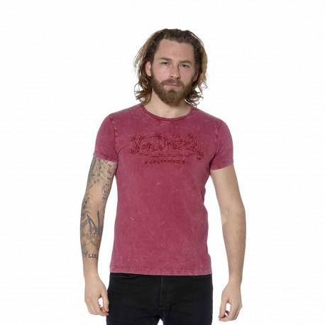 T-Shirt homme col rond regular fit effet usé imprimé devant
