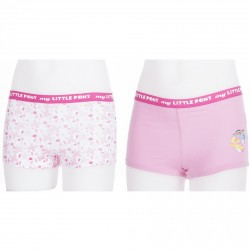 My Little Pony Lot De 2 Boxers Fillette Rose