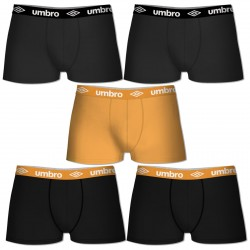 Lot de 5 boxers coton Unis Umbro