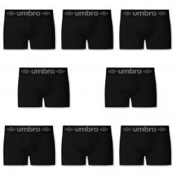 Lot de 8 boxers sans couture Noir Umbro