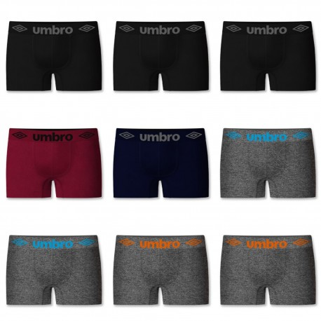 Lot de 9 boxers sans couture Umbro
