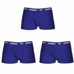 Lot de 3 Boxers Coton Umbro Bleu