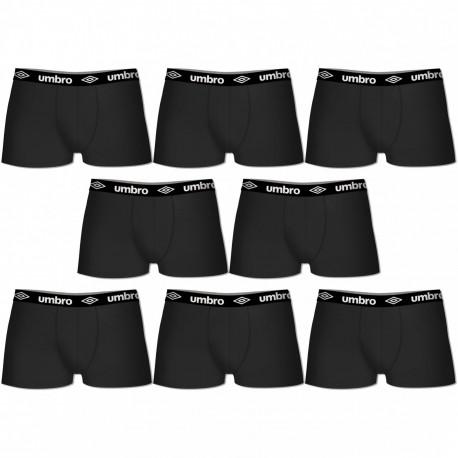 Lot de 8 Boxers Coton Umbro Noir