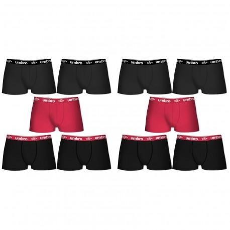 Lot de 10 boxers coton Unis Umbro