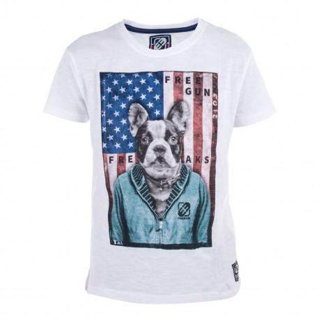 Tee Shirt Boyz Babyz Imprimé Dog Freegun.