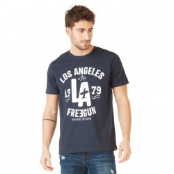 T-shirt Homme Freegun Los Angeles bleu