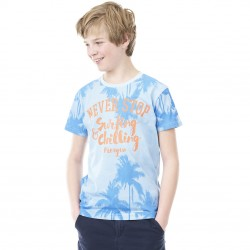 T-shirt Freegun Surfing Bleu