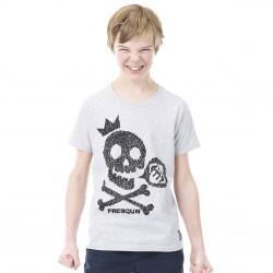 T-shirt Freegun Skull Gris et Noir