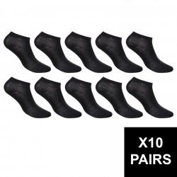 Lot De 10 Paires De Sneackers Homme Noires 40/46