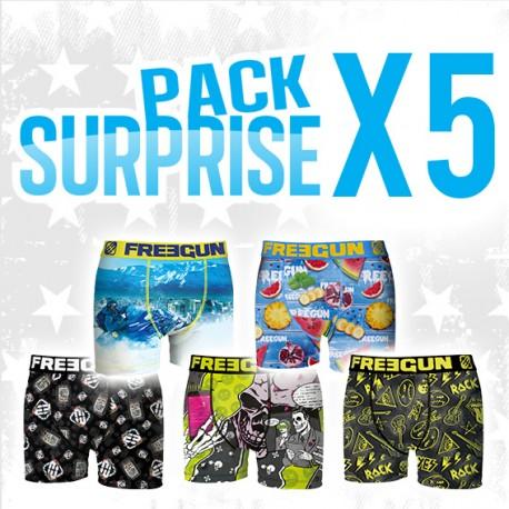 Lot de 5 boxers homme Pack surprise Freegun