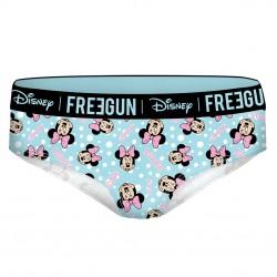 Boxer femme coton Freegun Disney Minnie Bleu
