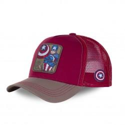 Casquette trucker Capslab Marvel Captain America Rouge