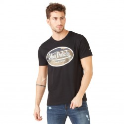 T-shirt homme Von Dutch Aarmy Noir