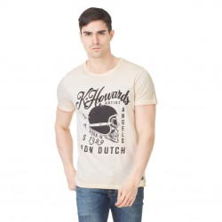 T-shirt homme Von Dutch Cortes'19 Ecru