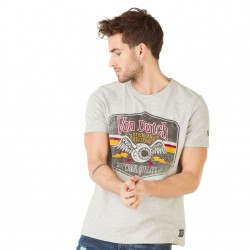 T-shirt homme Von Dutch Gas Gris Chiné